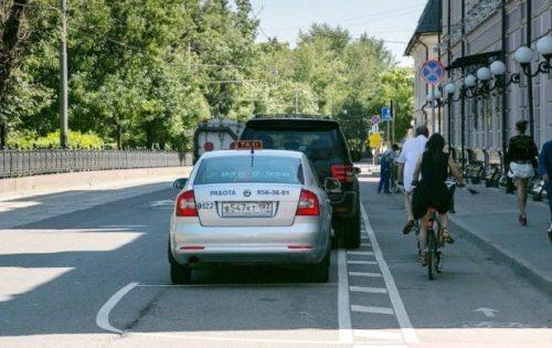 Пример обочины, превращенной в велодорожку