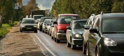 Пример запрещенного объезда пробки