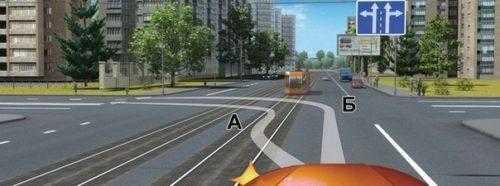 Правила поворота налево с трамвайных путей