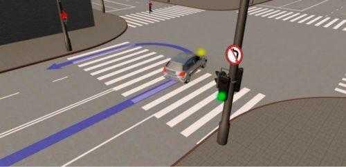 Разворот на пешеходном переходе