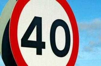 Знак ограничение скорости