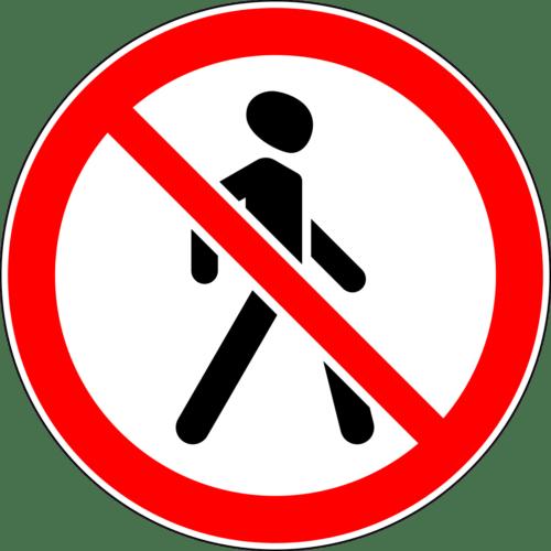 Движение пешеходов запрещено 3.10
