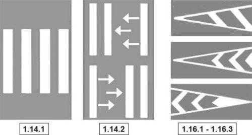 Виды разметки для пешеходов